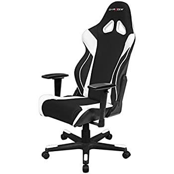 DXRacer Racing Series OH/RW106 Racing Style Bucket Seat Ergonomic Executive Office Gaming Chair Computer eSports Desk Chair With Lumbar Support Pillows ...