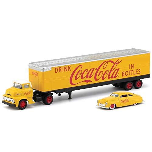 M2 Machines Auto Hauler Coca-Cola 1956 Ford COE & 1949 Mercury Coupe