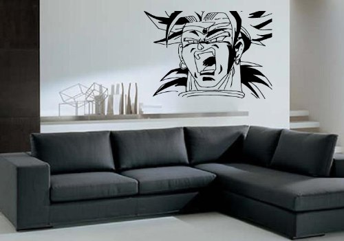 DesignToRefine Broly Dragon Ball Z Cartoon Anime Wall Decor Mural Vinyl Art (350z Lambo Doors)