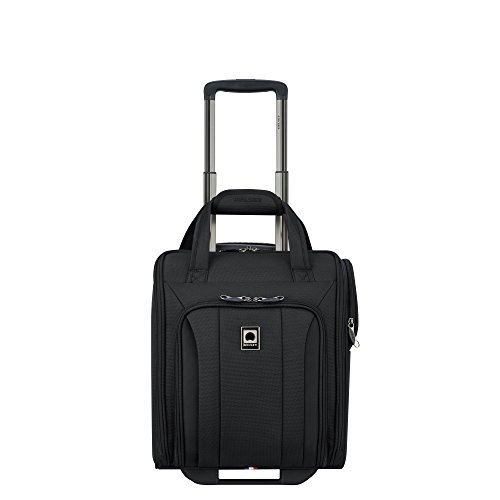 Delsey Luggage Titanium Soft 2 Wheeled Underseater, Black Spinner Wheeled Tote Bag