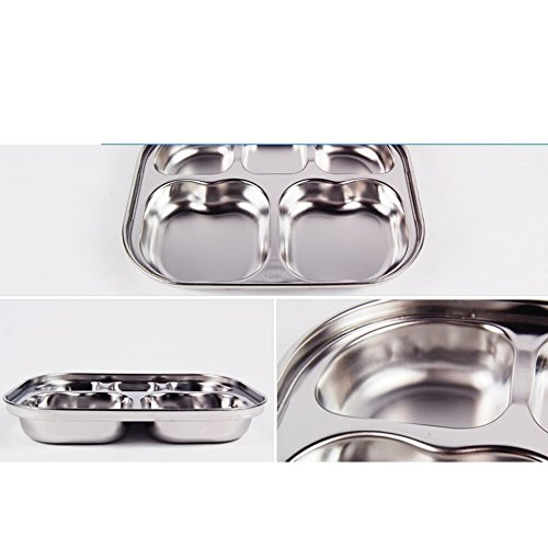 Stainless Steel Tray Storage Containers Divided Dinner