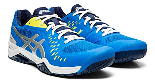 - ASICS Men's Gel-Challenger 12 Court Shoes, 10.5M, Electric Blue/Silver