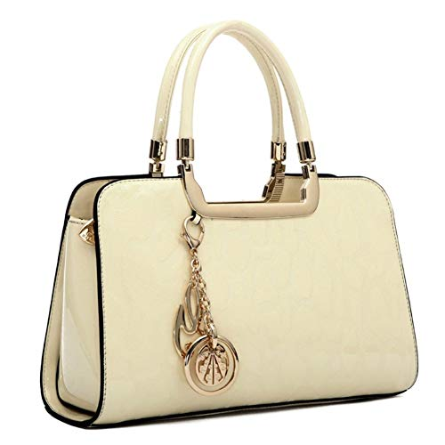 Women's Patent Leather Handbags Designer Totes Purses Shoulder & Satchels Handbag - Ladies Embossed Top Handle Messenger Tote Bags