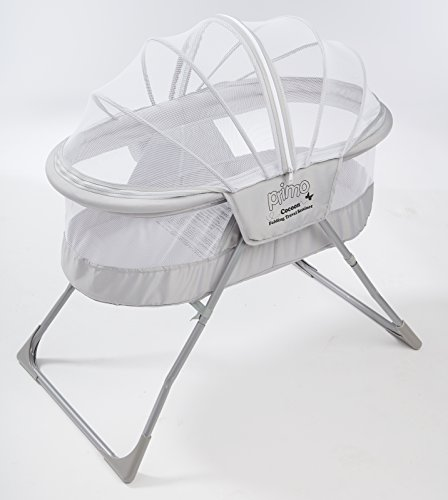 Oval Crib Set - Primo Cocoon Folding Indoor & Outdoor Travel Bassinet with Bag, Grey