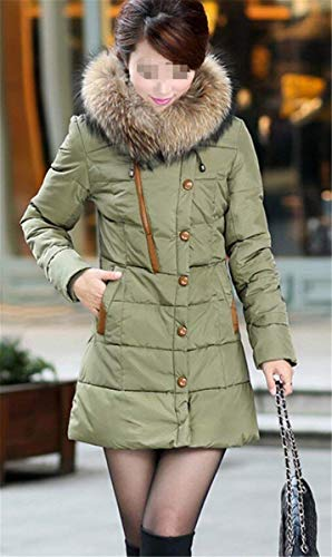 Manteau Fourrure Taille Hiver Femme Grande Capuchon avec Doudoune wqpBCO7S