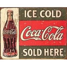 Coca Cola Coke 5 Cent Bottle Advertising Vintage Retro Wall Decor Metal Tin Sign