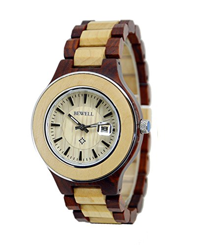 Topwell Watches Wooden Calendar Wristwatches
