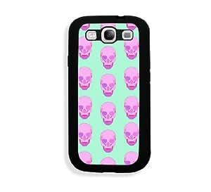 Teal Skull Pattern Samsung Galaxy S3 SIII i9300 Case Fits - Samsung Galaxy S3 SIII i9300