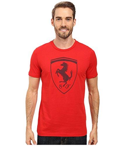 PUMA Men's Ferrari Big Shield Tee, Rosso Corsa, Medium