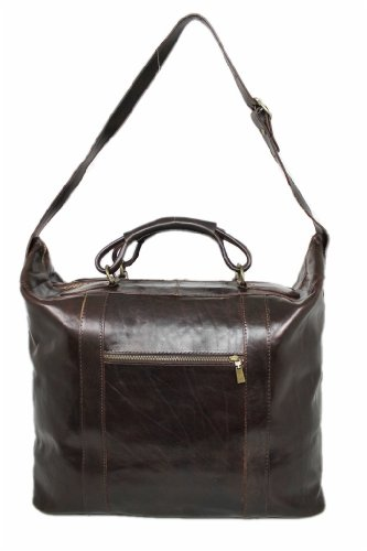 Leatherworld Damen Herren Echt-Leder Reisetasche Sporttasche Weekender geräumige Bordtasche Handgepäck-Tasche Umhängetasche Bordgepäck Leder-reisetasche aus hochwertigem Leder Vintage 05972