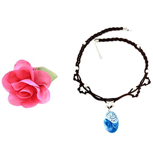 Toddler Little Princess Girls Necklace for Cosplay Moana Party Costume Dress up