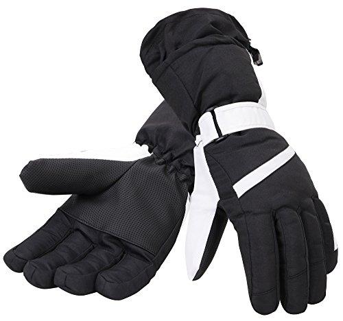 Simplicity Women's Waterproof 3M Thinsulate Winter Ski Gloves,Black White,M - Black Womens Snowboard Glove