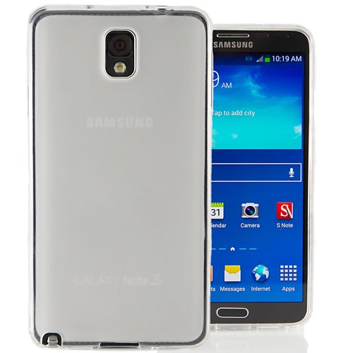Hyperion Samsung Galaxy Note 3 Matte Flexible TPU Case & Screen Protector for Samsung Galaxy Note 3 (Compatible with Domestic and International Note 3 SM-N900 Models) **Hyperion Retail Packaging** [2 Year Warranty] (Frost Clear)