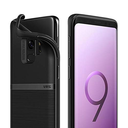 VRS DESIGN Galaxy S9 Case, Slim Full Body Protective Armor [Black] Ultra Thin Fit for Samsung Galaxy S9 [Single Fit]