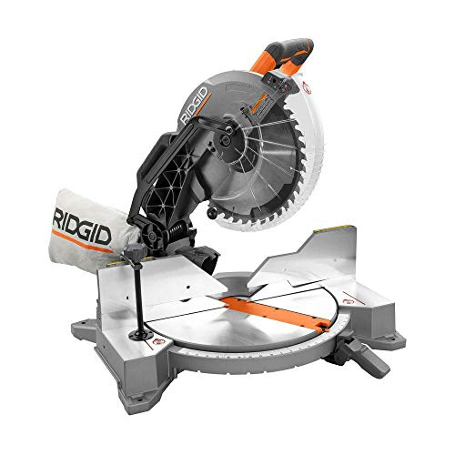 - Ridgid ZRR4122 12 in. Dual Bevel Compound Miter Saw with Laserguide (Renewed)