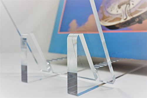 Vinyl Record Album Storage Display Stand and Holder - Modern Minimalist Design - 100% Crystal Clear Acrylic - For LP Record Albums, DVDs, or CDs - Made in USA by Ion Acrylics (Image #3)