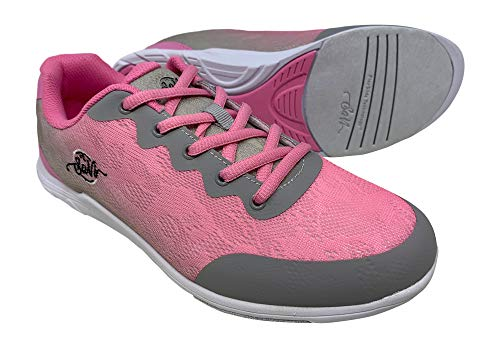 SaVi Bowling Women's Savannah Pink/Grey Bowling Shoes (7)