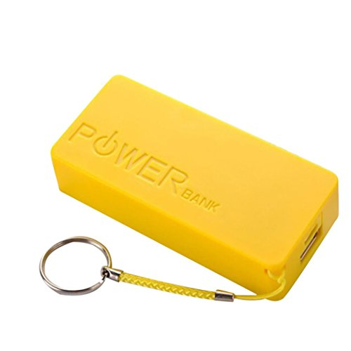 Price comparison product image Anshinto 5600mAh 2X 18650 USB Power Bank Battery Charger,  Case DIY Box (Yellow)