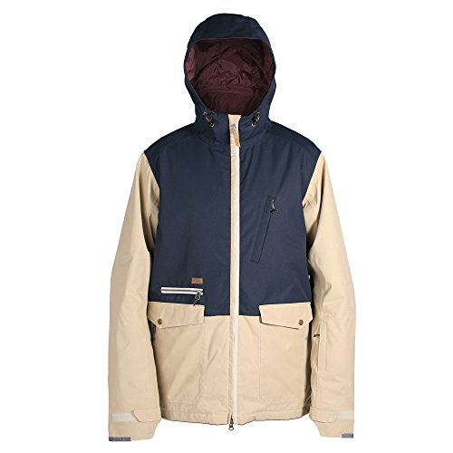 Ride Snowboard Outerwear Men's Northlake Jacket, Waxed Khaki/Navy, - Northlake Shop