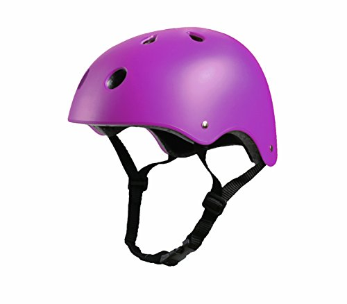 Tourdarson Adult Skateboard Helmet Specialized Certified Protection Sport for Scooter Skate Skateboarding Cycling (Purple,Large)