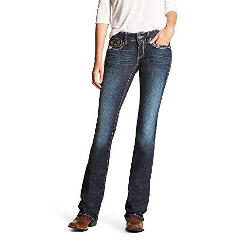 Ariat Womens R.E.A.L Low Rise Winona Boot Cut Jean 28 XL Nightshade
