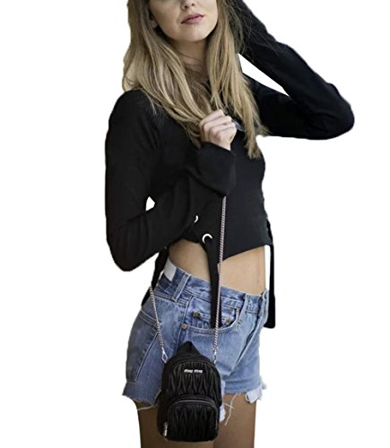 Walant Cropped Casual Pullover Sweatshirt