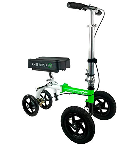 (NEW KneeRover GO HYBRID - Most Compact and Portable Knee Scooter with ALL TERRAIN Front Wheels)