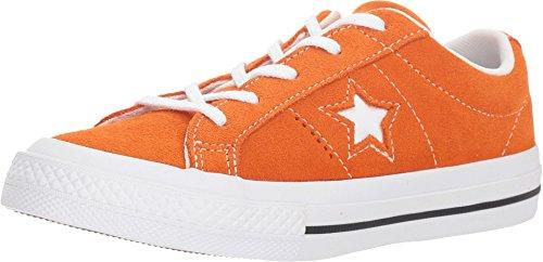 Converse Unisex Kids One Star Ox Shoes Bold Mandarin/White/White (12 M US Little Kid) - Kids Converse One Star