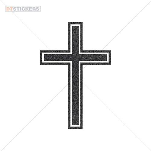 Vinyl Sticker Decal Cross Symbol Atv Car Garage bike (3 X 1,99 In. ) Metallic Black