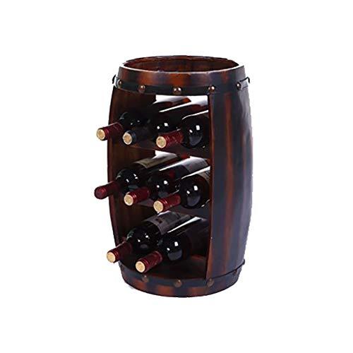 FPigSHS Beer Barrel Wine Barrel Wine Cooler Wine Rack Oak Barrel Display Wine Barrel Display Stand Solid Wood Decoration bar ()