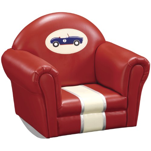 Guidecraft Retro Racers Upholstered Rocker by Guidecraft