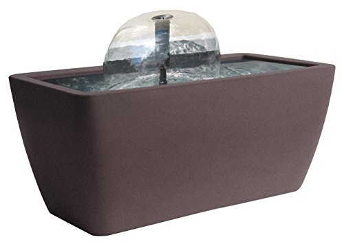 Algreen 36311 Manhattan Pond Kit Fountain with Led Light, Brownstone