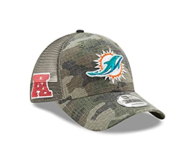 Miami Dolphins Camo Trucker Duel New Era 9FORTY Adjustable Snapback Hat / Cap by New Era