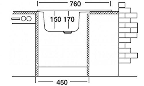 Edelstahlspule 76cm X 43 5cm Mit Ablage Spule Einbauspule