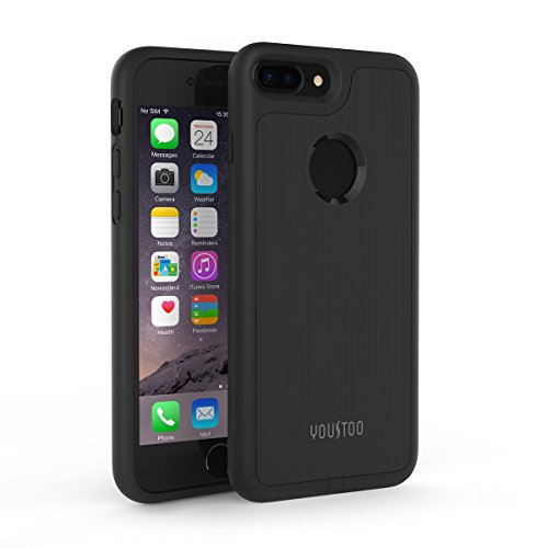 iPhone 7 Plus Wireless Charging Case, YOUSTOO Qi Wireless Charger Charging Receiver Case Back Cover [No Built-in Battery] [Not Magnetic] for iPhone 7 Plus - Phone Covers Wireless