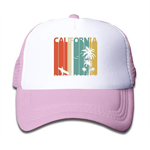 (Vintage Retro 1980s California On Kids Trucker Hat, Youth Toddler Mesh Hats Baseball Cap)