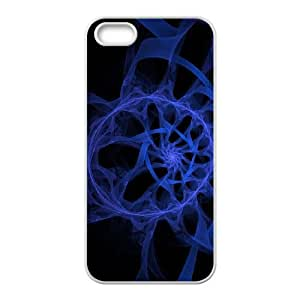 Blue Art iPhone 4 4s Cell Phone Case White AMS0663255