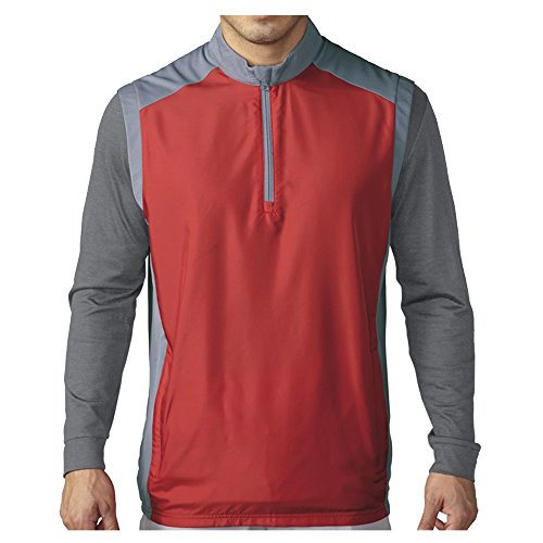 adidas Golf Men's Golf Club Wind Vest, Power Red, X-Large ()
