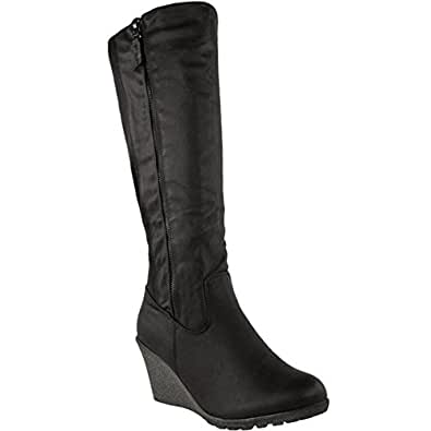 Amazon.com   Fashion Thirsty Womens Wedge Heel Knee High