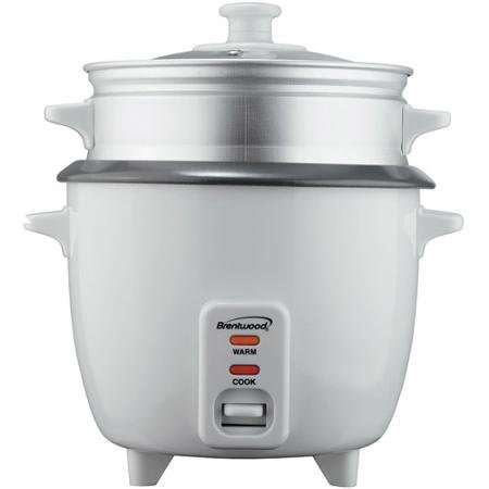 Automatic Shut-off Rice Cooker with Steamer, 400 Watts, 5 Cup Capacity