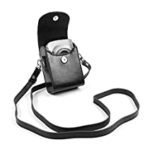 DURAGADGET Nikon Coolpix Compact Camera Case - Stylish Faux Leather Protective Case / Bag with Additional Detachable Carry Strap in Black for Nikon CoolPix AW120, CoolPix L30, CoolPix S6800, CoolPix S810c, CoolPix S9600, CoolPix L31, CoolPix S2900, CoolPix S3700, CoolPix S6900, Coolpix AW130 & Coolpix S33