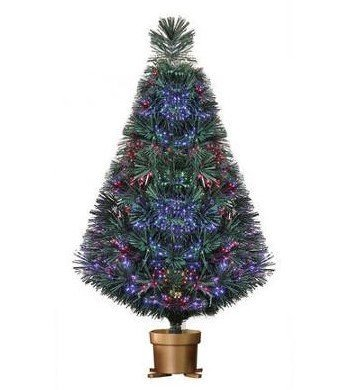 Holiday Time 32 Inch Green Fiber Optic Christmas Tree ()