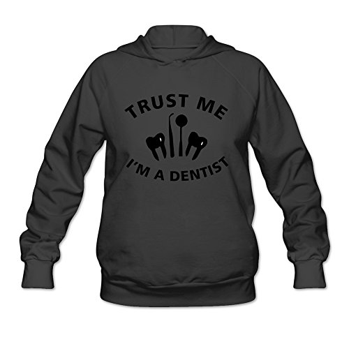 PNHK Women's Trust Me I Am A Dentist Hooded Sweatshirt Large (Dentist Halloween Jokes)