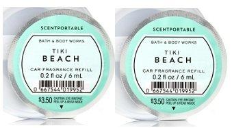 Bath and Body Works Scentportable Fragrance Refill Tiki Beach. 2 Set. by Bath & Body Works