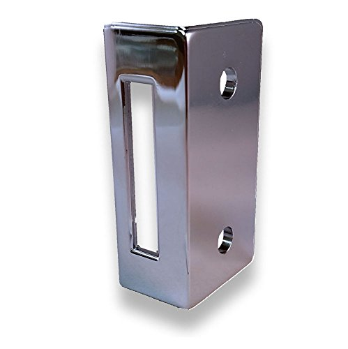 Chrome Plated Zamac Keeper for Restroom Partition Slide Latch, 1-1/2'' Between Holes. Latch Opening is 1-9/16'' High by Youngs Catalog