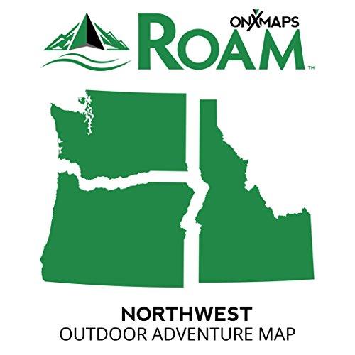 onXmaps ROAM Northwest: Digital Recreation Map for Garmin GPS Color Coded Land Ownership 24k Topo Roads and Trails Covers Idaho, Washington, and Oregon