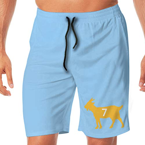 Men's Swim Trunks Quick Dry Black Pittsburgh Roethlisberger Goat Surfing Beach Board Shorts with Two - Blanket Ben Roethlisberger