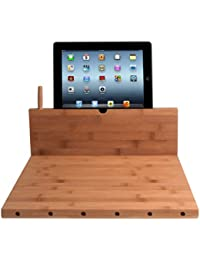 Gain CTA DIGITAL Bamboo Cutting Board with iPad Stand, Stylus and Knife Storage deal