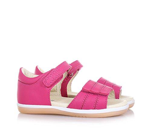 BOBUX - Pink I-Walk Spring Sandale aus Leder, made in New Zealand, mit doppeltem Klettverschluss, Mädchen