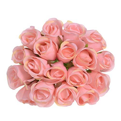 AIUSD 18 Head Artificial Fake Roses Flower Bridal Bouquet Wedding Party Home Decor